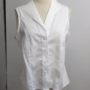 Calvin Klein sleeveless buttondown shirt-sz 8